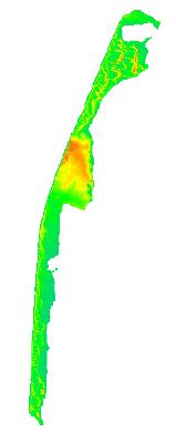 Digital Elevation Model derived from LiDAR data