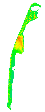 Digital Elevation Model derived from LiDAR data