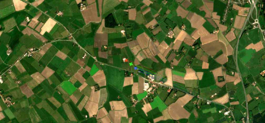 A view in Terrascope's EO browser Terraviewer