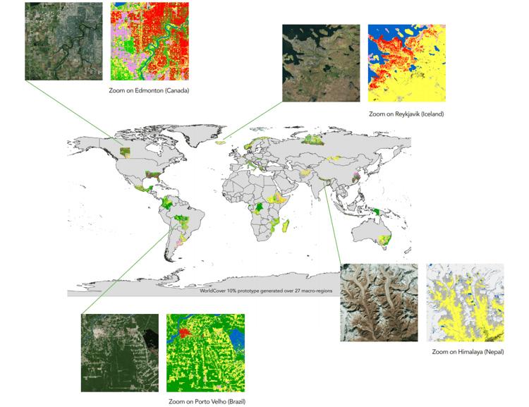 ESA WorldCover global prototype maps