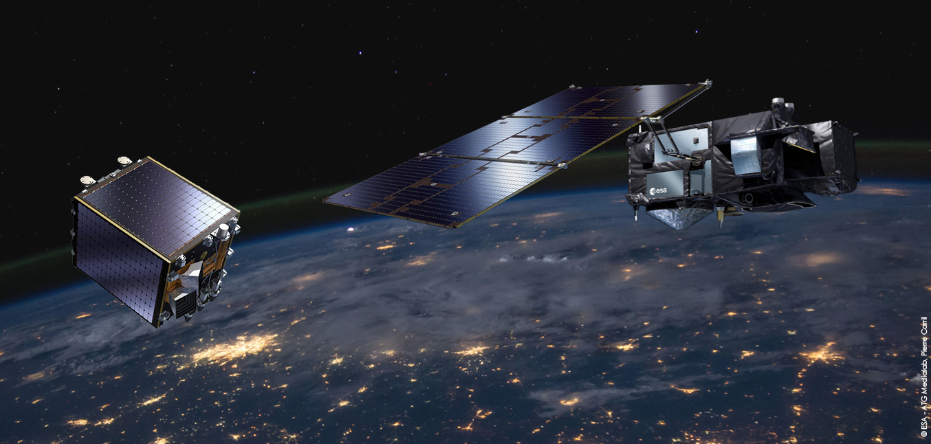 PROBA-V and Sentinel-3 satellites