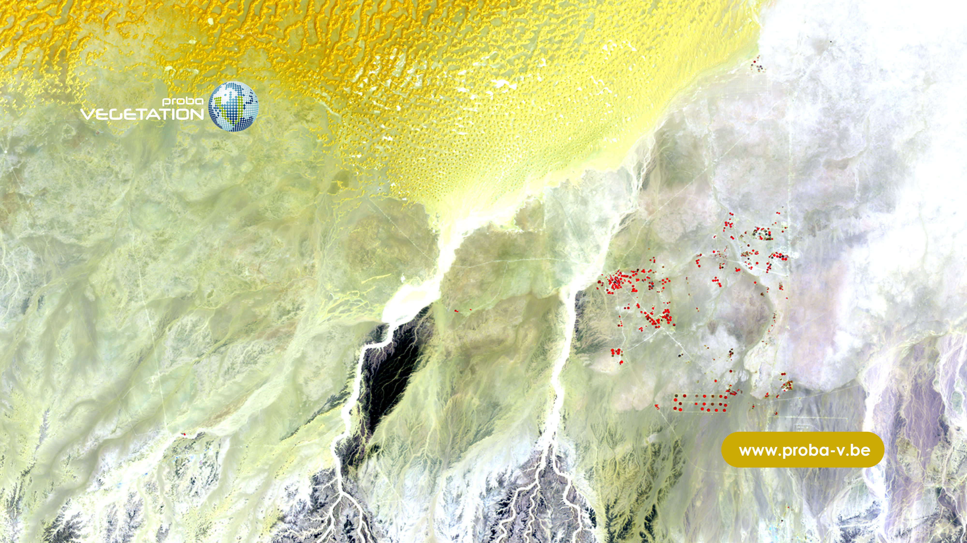 PROBA-V virtual background for all your web conferences - 100 m image of a wadi system in the Dhofar region of Oman