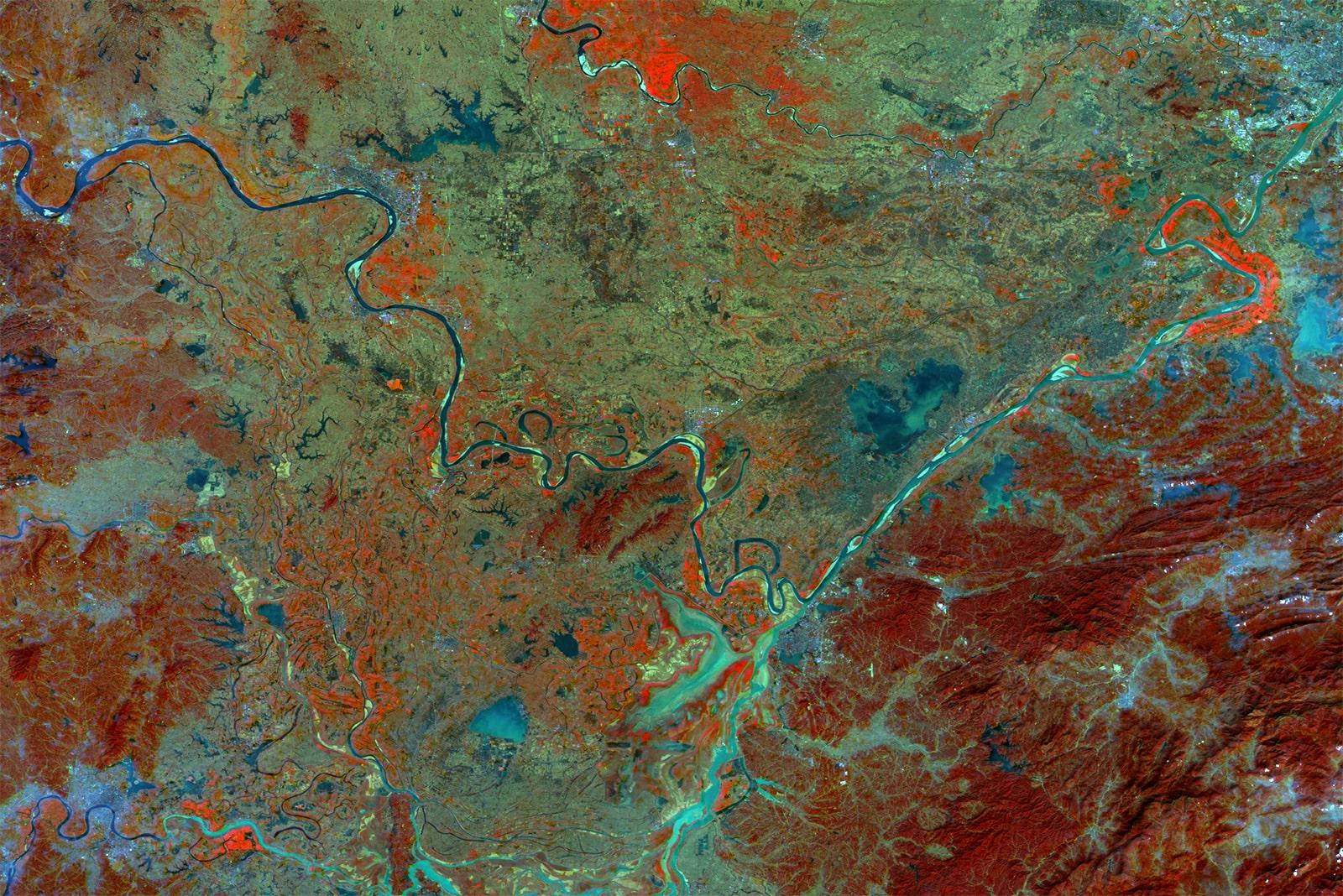 PROBA-V 100 m image of Hubei, China