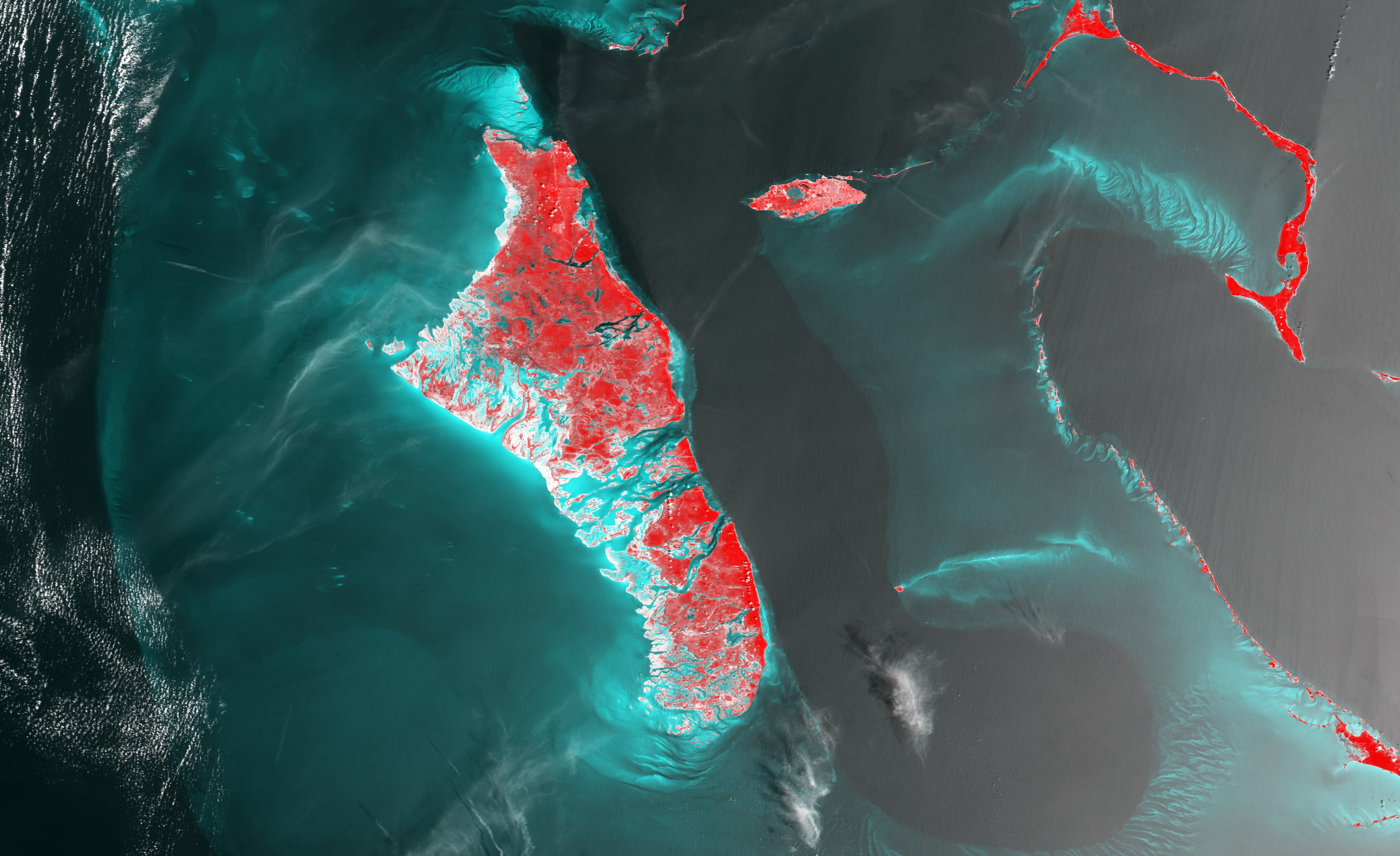 PROBA-V 100 m image of The Bahamas