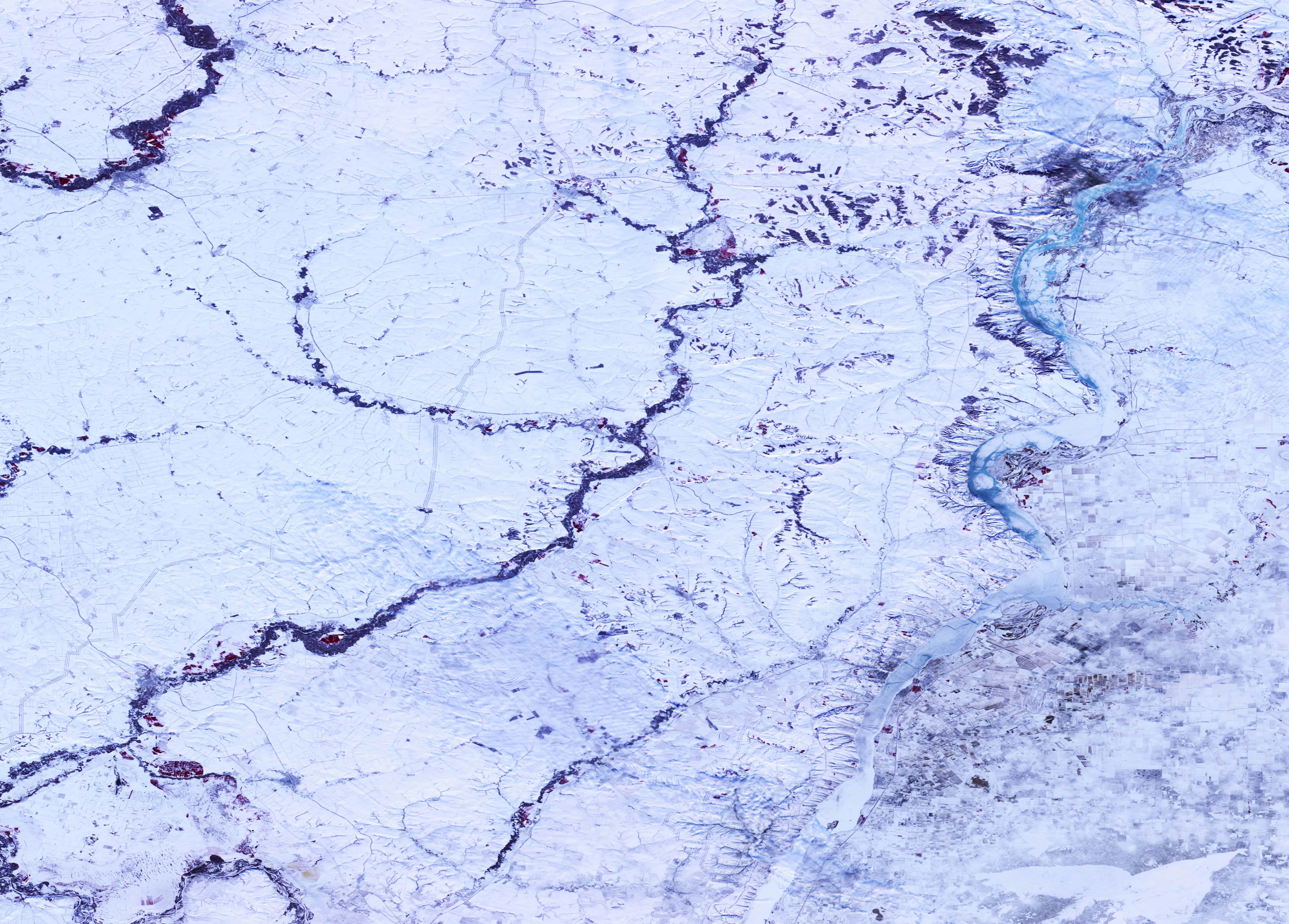 PROBA-V 100 m image of Europa Russia Snow