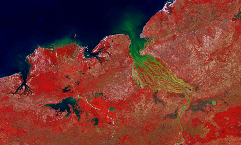 PROBA-V 100 m image of Betsiboka River, Madagascar