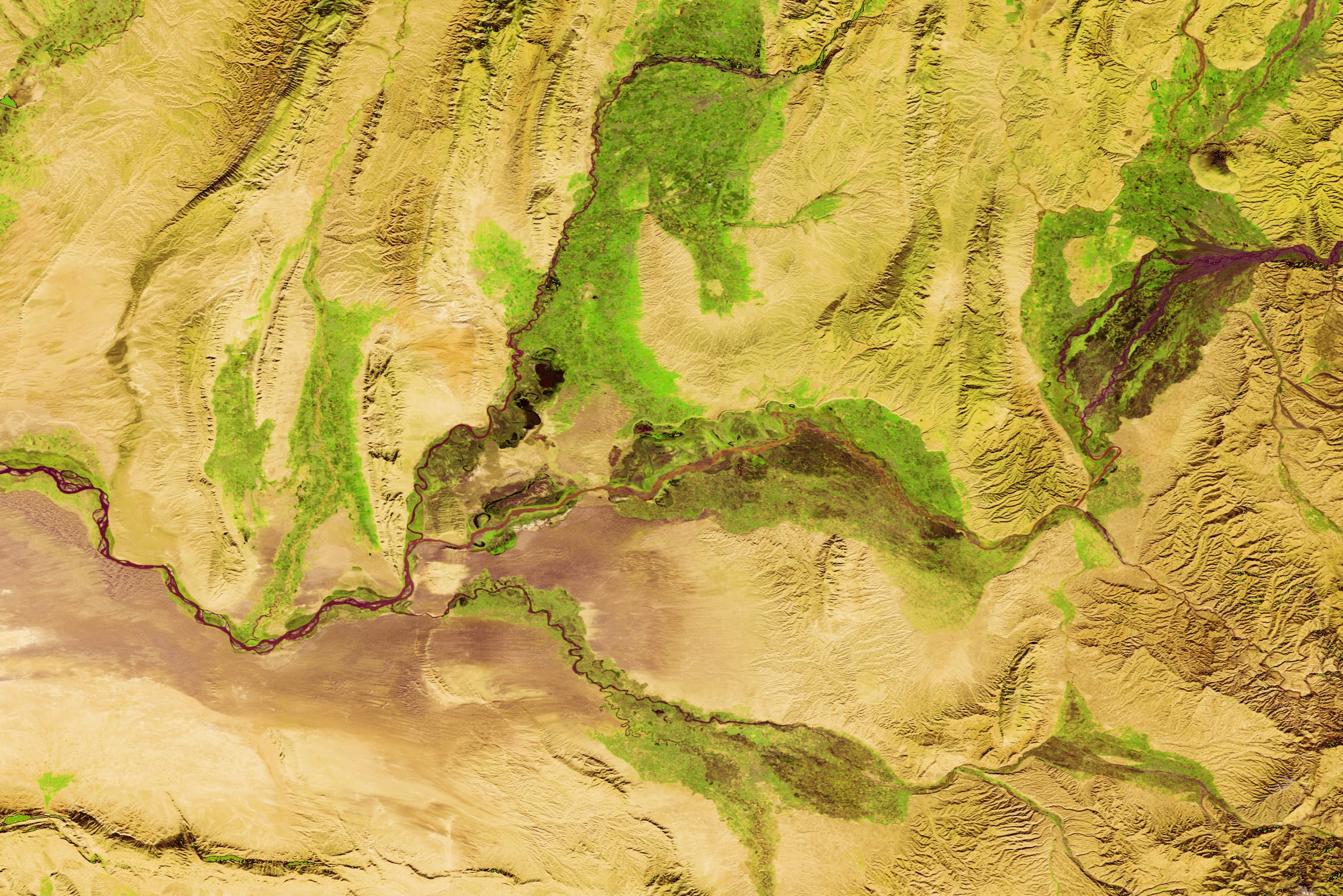 PROBA-V 100 m image of Amu River, Tadzjikistan-min