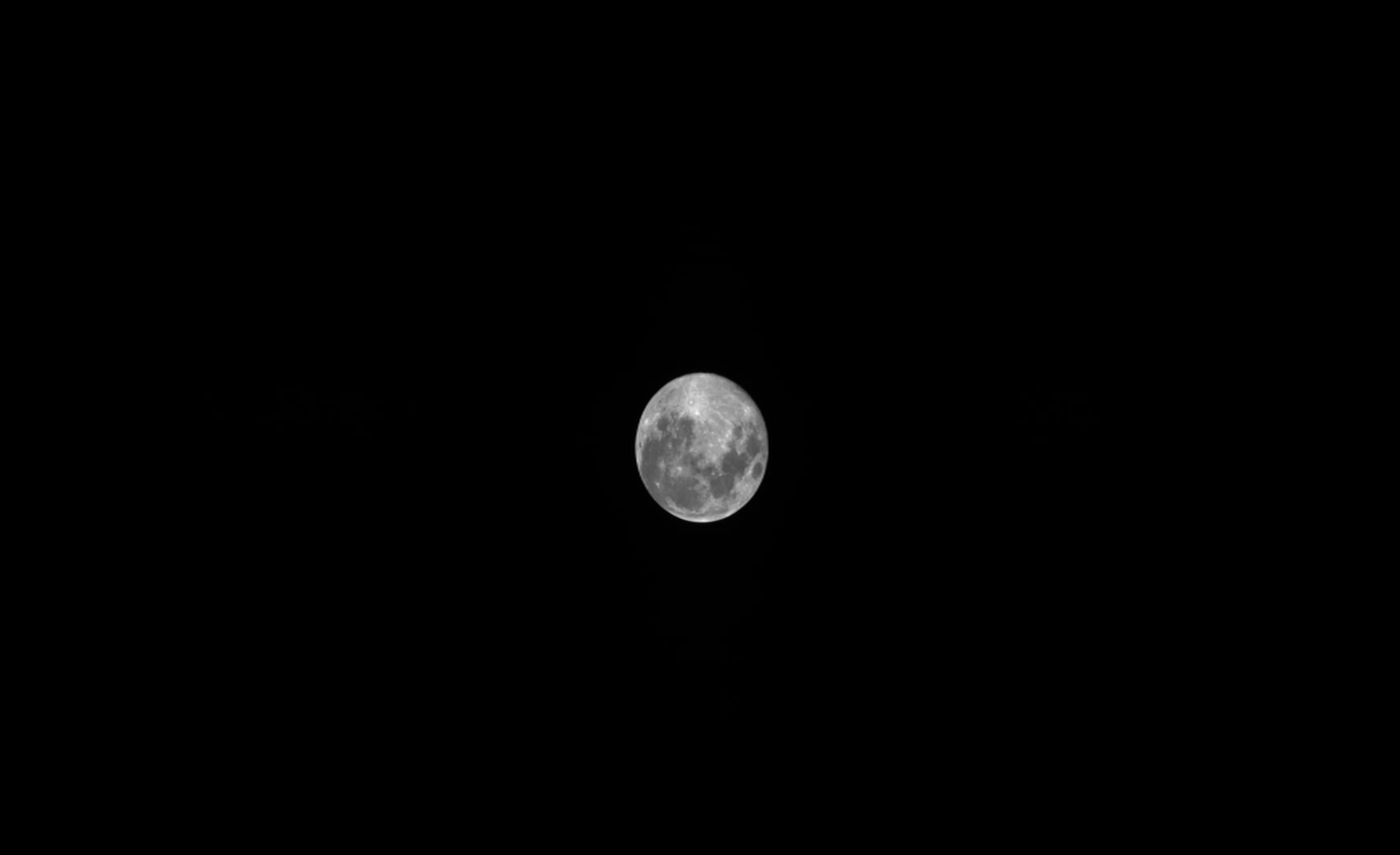 An image of the moon taken to test PROBA-V's automated moon calibration built-in to the system
