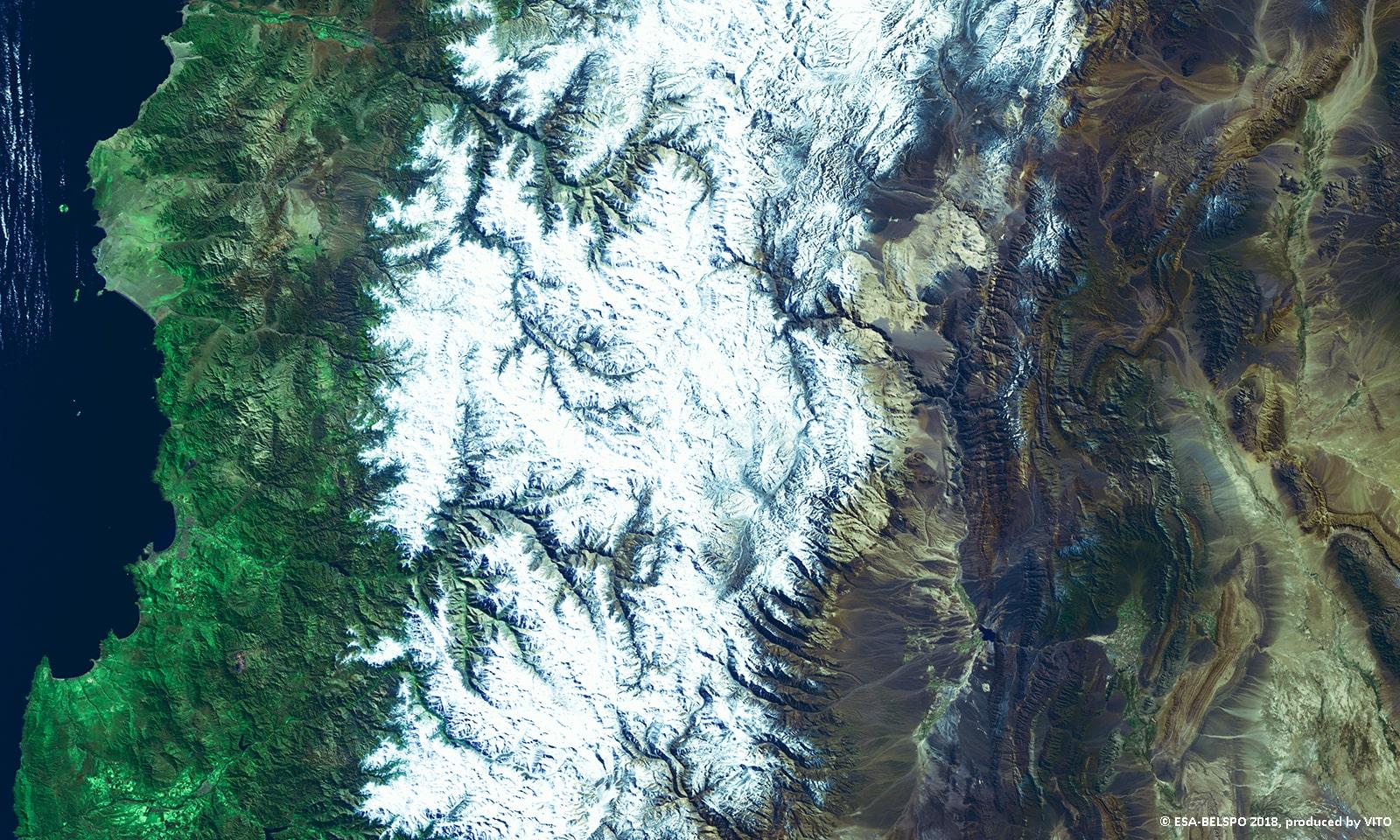 PROBA-V 100 m image of Coquimbo, Chile