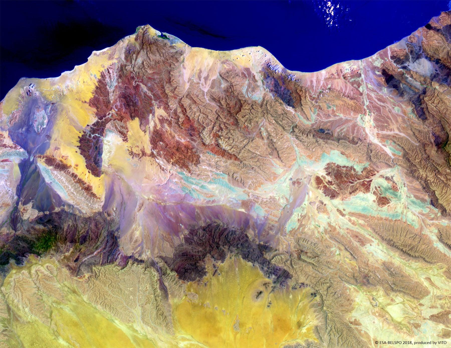 PROBA-V 100 m image of Woqooyi Galbeed, Somalia