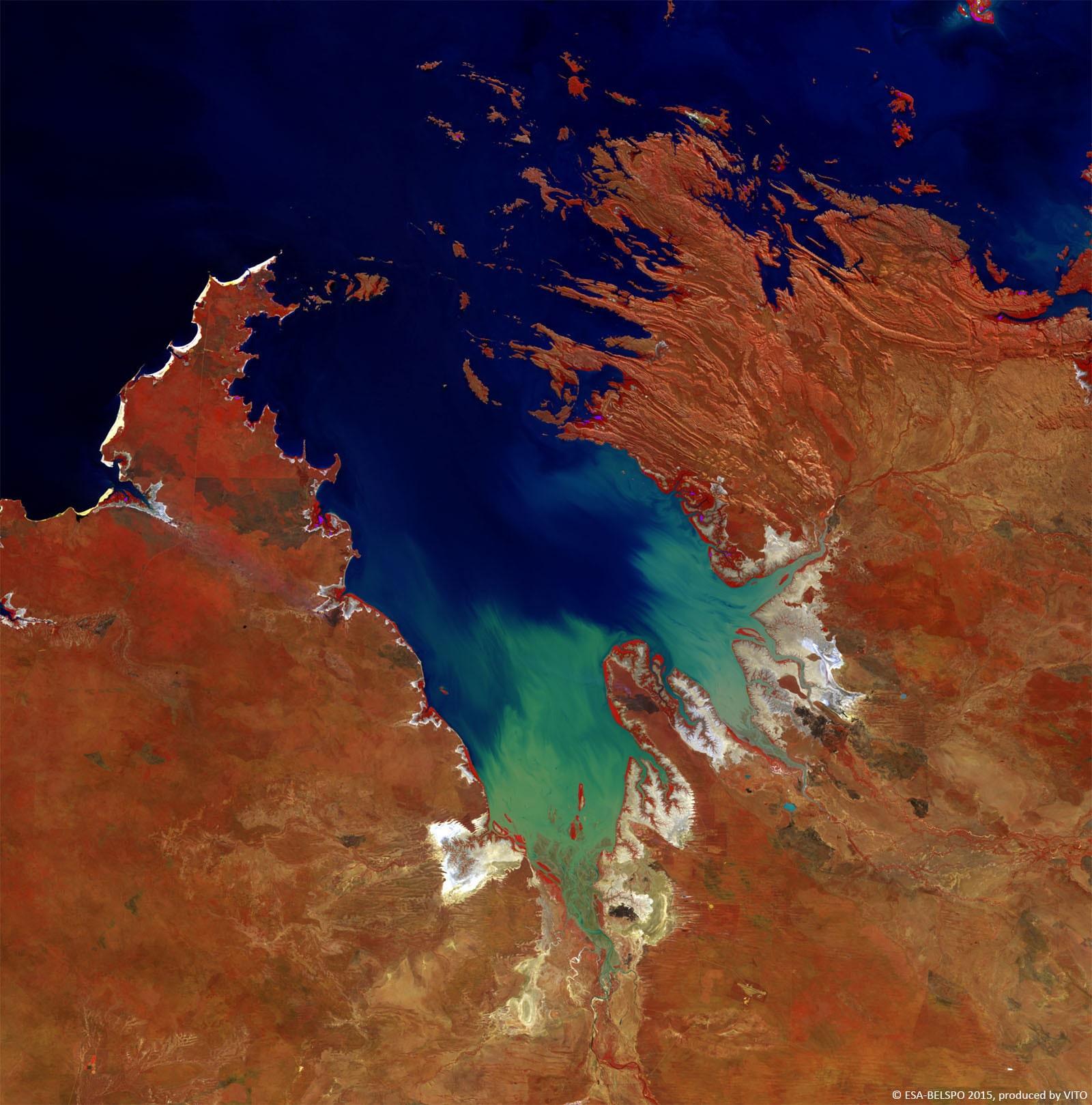 PROBA-V 100 m image of King Sound, Australia