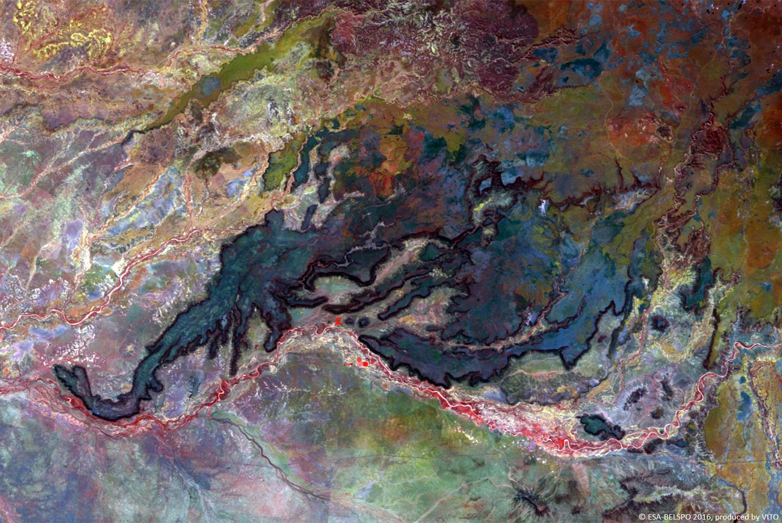 PROBA-V 100 m image of Porcupine Gorge National Park, Australia-min